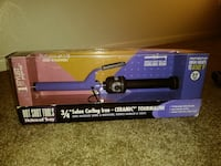 black and purple Ceramic tourmaline salon curling iron with box Denver, 80231