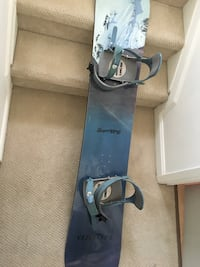 Liquid snowboard mint condition with boots 3491 km