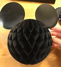 Set of 3!!!! Hanging Mickey Mouse paper ball