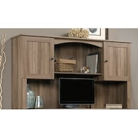 Sauder Harbor View Hutch, Salt Oak Finish Dayton