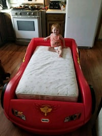 Cars bed with board under mattress and comforter Elmira, 14901