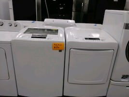 LG top load washer and dryer set excellent conditions