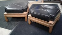 2 VINTAGE FOOTSTOOLS good condition