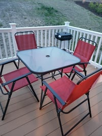 black metal framed glass top patio table set Springfield, 22150