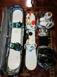 2 complete snowboards with boots and bag Reston, 20191