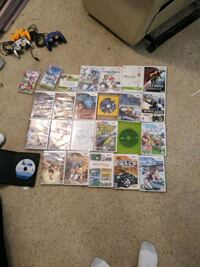 Wii Games/Wii and controllers 1822 mi