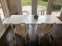 IKEA Solid Kitchen Table and Chairs.  White  Solid steel legs Newmarket, L3X 2H2