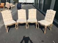 Four Upholstered Dining or Side Chairs in Like New Condition Holly Springs, 27540