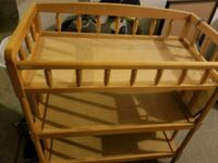 brown wooden diaper changing table Dixon, 95620