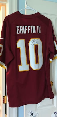 Authentic SIGNED RGIII Redskins Jersey Chantilly, 20151