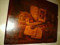 painting of books wall decor