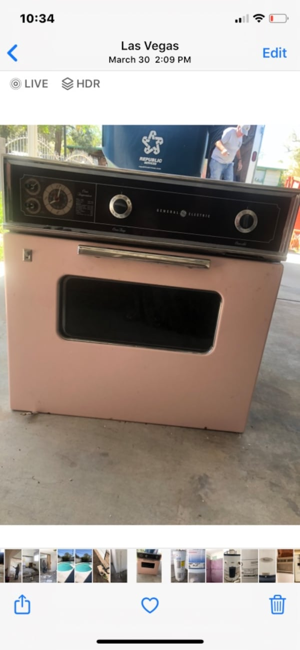 Vintage Pink Electric wall oven- GE 1