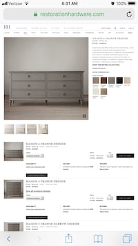 Restoration Hardware Dresser Washington, 20001