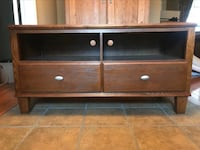Brown wooden 2-drawer tv stand