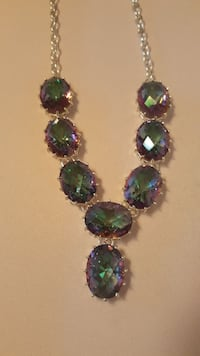 Sterling Silver & Mystic Fire Topaz necklace Virginia Beach, 23462