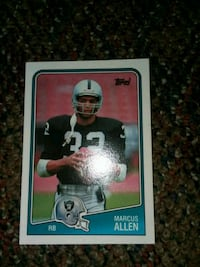black and white football player trading card Glendale, 85302