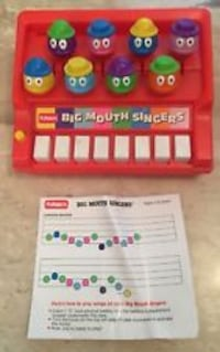 vintage Big Mouth Singers Toy Piano As Is NON Working WARREN