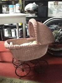 Antique wicker stroller. New Westminster, V3L 1T6