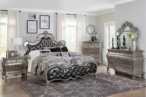 NEW 4 PCS HOMELEGANCE BRIGETTE QUEEN BEDROOM SET