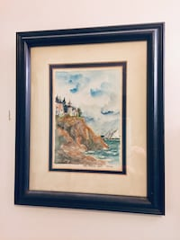 Framed watercolor painting Columbia, 21046