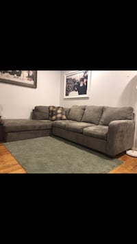 gray suede sectional couch screenshot , 11213