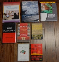 college books, all in good condition, priced as marked on page 2 2277 mi