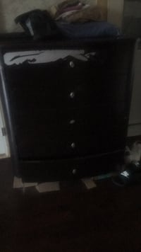 black wooden 3-drawer chest Toronto, M5V