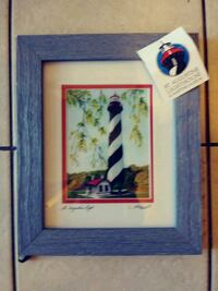 Lighthouse picture wall decor for home. Myrtle Beach, 29577