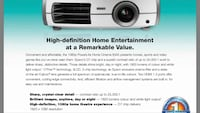 Epson Powerlite Home Cinema 8345 Mississauga, L4Y 2N5