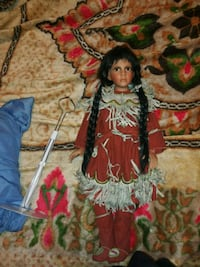 Native American porcelain doll with stand Stockton, 95203