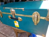 blue and brown wooden chest box Houston, 77015
