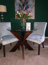 Powder Blue Dining Chairs (2)