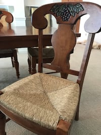 Price dropped to sell!  Custom dining table, 4 chairs Fort Mill
