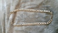 silver curb link necklace