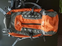 orange and gray 95 condor hiking backpack