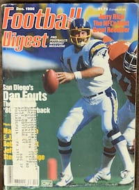 Football Digest San Diego Chargers Dan Fouts December 1986 Issue Lebanon