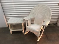Wicker Rocking chair with matching table  Lyndhurst, 07071