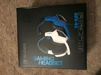 two blue and white SADES gaming headset box Hagerstown, 21740