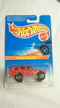 HOT WHEELS RANGE ROVER 1995 RED W/ FLAMES DIECAST