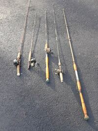 5 fishing rods