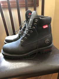 Men's size 9 Helcor Timbs Boston, 02215