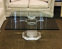 Modern Classic Glass top Coffee table with acrylic bottom Mundelein