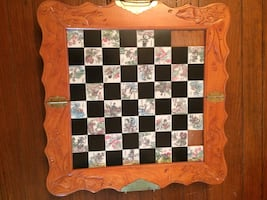 Antique Chess set (board missing 3 tiles)