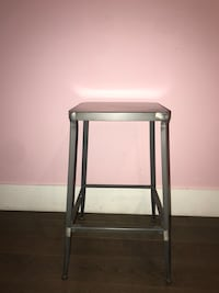 2 Gray Metal barstools