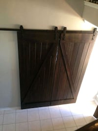 brown wooden cabinet with mirror Houston, 77086