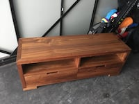 Brown wooden 2-drawer console table Toronto, M4C 2G3