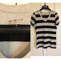 white and black stripe scoop-neck shirt Harrison, 45030