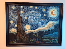 Vincent Van Gogh starry night re-production oil painting