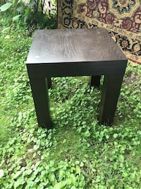 West Elm Espresso side end table accent heavy