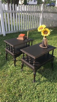 Primitive end/side tables *Newly refinished  New Oxford, 17350